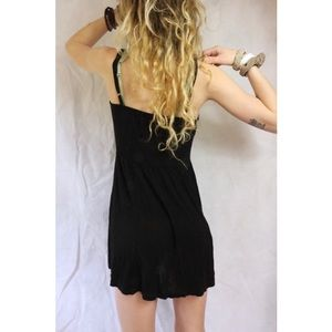 Brandy Melville Black Stretchy Strap Mini Dress !